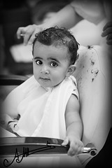 (A.A.A) Tags: boy baby white haircut black cute face by photography nephew khalid aaa amna irresistible abdulaziz althani