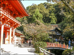 Kamigamo Shrine (richfowler) Tags: bridge japan kyoto gate shrine        kamigamoshrine romon roumon coolpixp5100