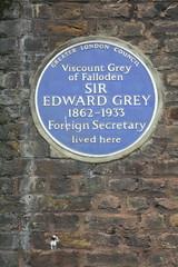 Photo of Edward Grey blue plaque