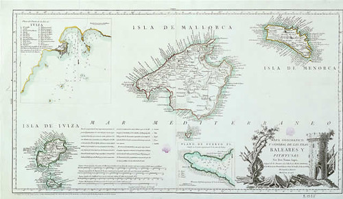 Mapa de las Baleares