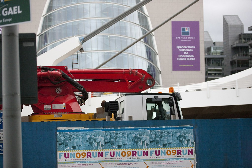 The €59 million Samuel Beckett bridge arrived on a barge