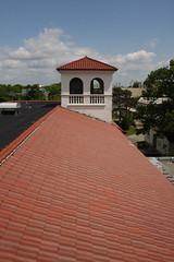 Roof of Morehead Hall, from one of the ventilation towers. As a high school, the yearbook was called La Campaginilla