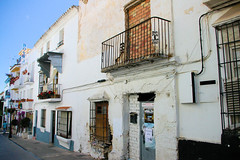 All Closed In Ronda (Siesta Time!) (cwgoodroe) Tags: summer costa white hot sol beach del bells spain ancient europe churches sunny bull bullfighter adobe ronda moors walls washed clothesline protective newbridge roda bullring stonebridge oldbridge spainish whitehilltown rondah spanishdoors