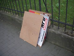 Vandalized Campaign materials
