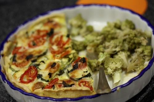 tarte de curgetes + brócolos