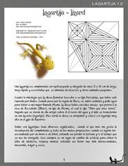 Origami of lizard | 239x185