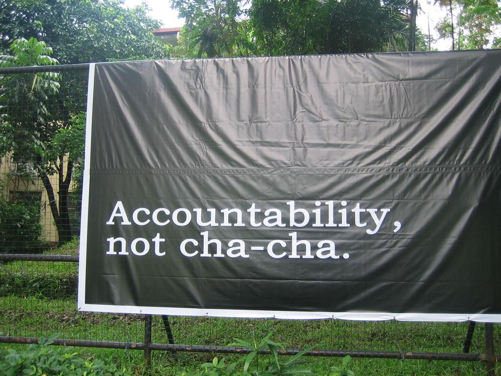 Accountability, not cha-cha