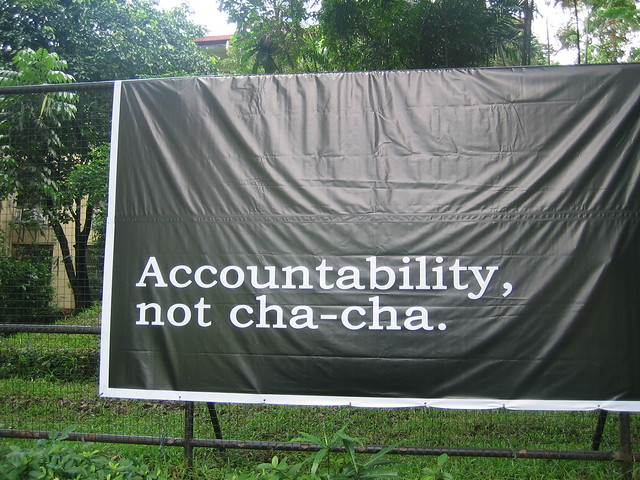 Accountability, not cha-cha
