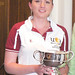 Joanne Taylor with the Charles Bland Cup