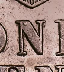 1875 Indian Cent dot rev detail