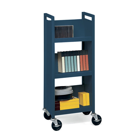 mobile book shelf? try a library book cart