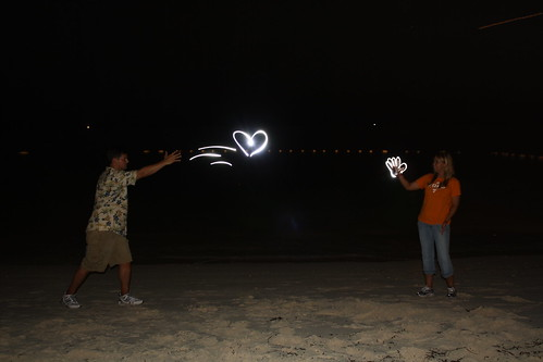 Light Painting with Newlyweds!