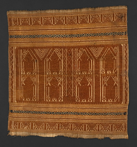 //Tampan 216//, Paminggir people. Lampung region of Sumatra, 19th century, 55 x 59 cm. From the library of Darwin Sjamsudin, Jakarta. Photograph by D Dunlop.