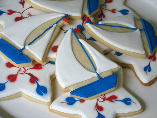 Sailboat and Star Cookies