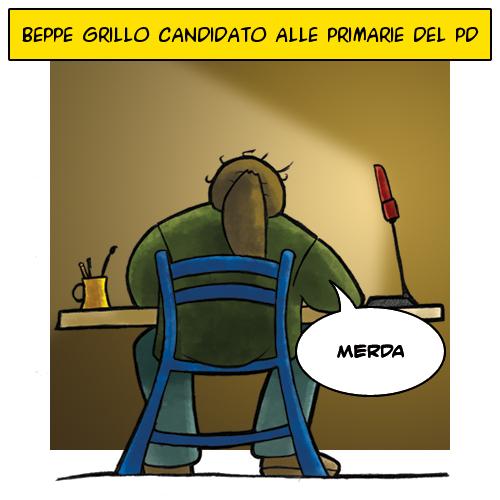 Beppe Grillo candidato alle primarie del PD