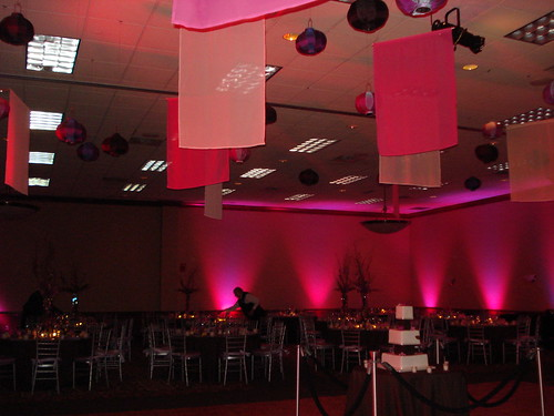 diy dance floor fabric ceiling panel decor