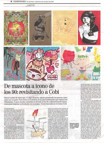 Artículo sobre la expo Homenaje a Cobi en el diario El Mundo