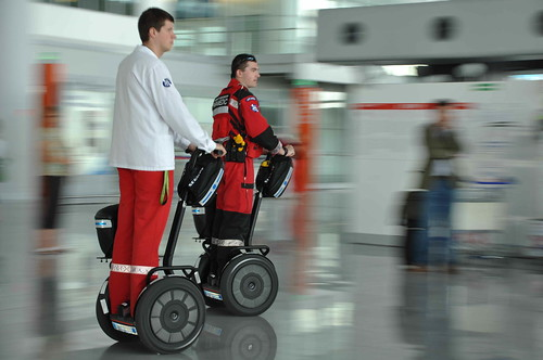 Warsaw International Airport - Paramedic First Responder units by Segway of Poland.