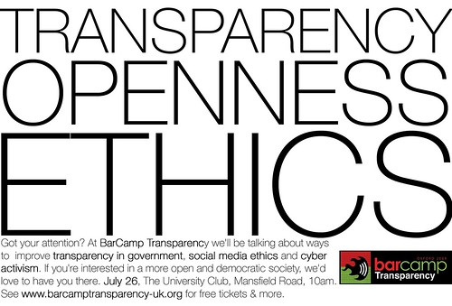 BarCamp Transparency poster