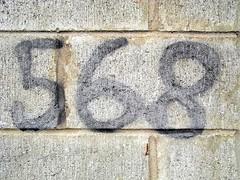 568 (designwallah) Tags: toronto ontario canada alley numbers urbanexploration laneway ruelle cinderblock 500to999