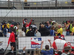 Helio celebrating! (waxyhearts) Tags: castroneves helio