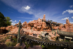 Magic Kingdom - Big Thunder Mountain Railroad (anadelmann) Tags: cactus sky usa mountain station train florida donkeys tracks f100 disneyworld 7d rollercoaster fl dynax waltdisneyworld frontpage wildwest adventureland maxxum bigthundermountainrailroad konicaminolta v1000 disneysmagickingdom konicaminoltadynax7d konicaminoltamaxxum7d anadelmann