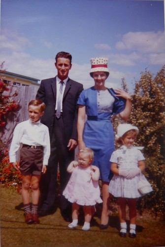all dressed up for church anniversary day, around 1963