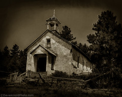 Trujillo Creek Church (Dave Arnold Photo) Tags: pictures usa church sepia architecture stairs mono us photo ruins colorado catholic cross image god photos jesus picture pic monotone images steeple photograph co catholicchurch spiritual spanishpeaks trujillocreek trujillocreekchurch