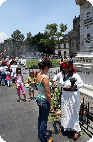 zocolo -Mexico City, Aztec Shaman blessing by you.
