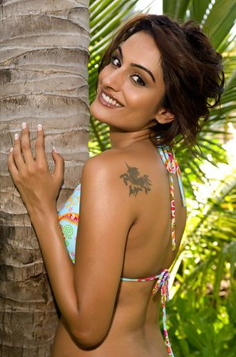 Miss India 2009, Ekta Chaudhary posing in swimwear