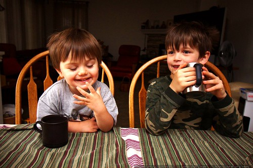 brothers having hot chocolate for breakfast - _MG_1527