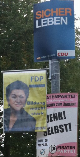 wahl 09 CDU va FDP vs Piraten