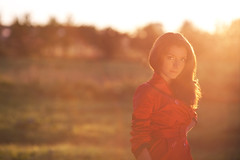 Sasha (Geshpanets) Tags: sunset sun girl hair 5d 135mm 13520