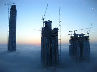 Dubai in Morning Fog