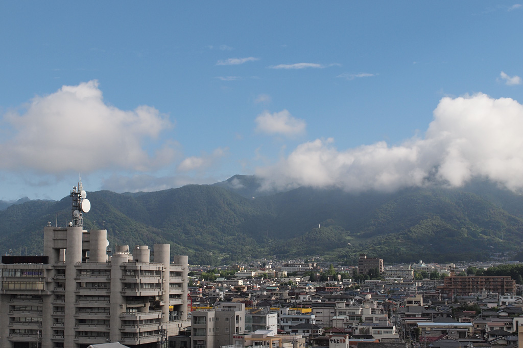 view of the north area of Kofu City