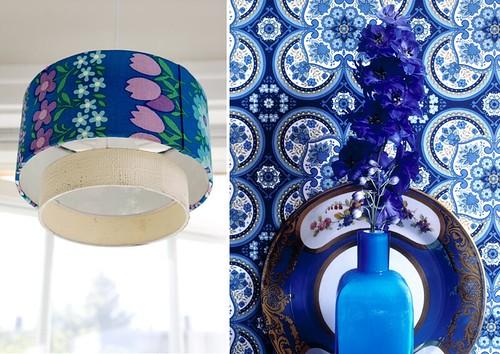 Blue floral mix