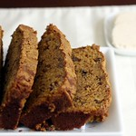 Pecan Pumpkin Bread with Cinnamon Honey Butter