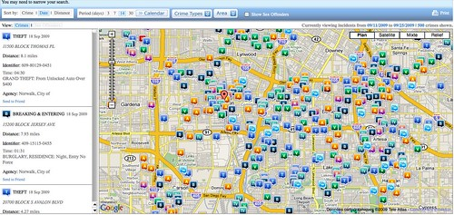 Search CrimeReports.com by you.
