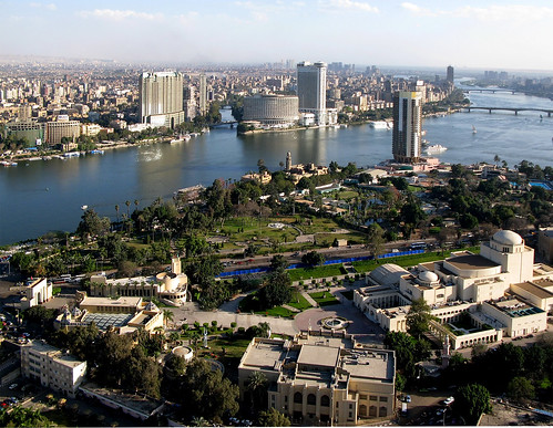 Looking southeast, from the Cairo Tower, El-Gezira