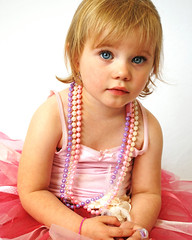 little miss e (emma-loves-sunshine) Tags: flower girl necklace beads dance eyes blueeyes tutu