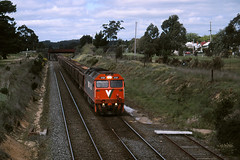 G521 Ballarat East (michaelgreenhill) Tags: 35mm slide victoria scanned vic vline scannedslides ballarateast rpauvicgclass1 rpauvicgclass1g521 railpage:livery=52