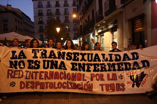 """Manifestación """"La transexualidad no es una enfermedad"""""""