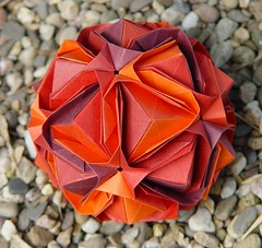 Japanese brocade (Tagfalter) Tags: origami modular kusudama