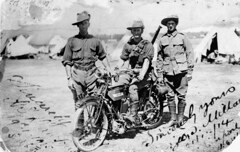 Members of the 5th Australian Light Horse Regiment in Egypt, ca. 1914 (State Library of Queensland, Australia) Tags: tents egypt mc worldwari queensland motorcycle soldiers bsa statelibraryofqueensland militaryuniforms lighthorse slq birminghamsmallarmscompany