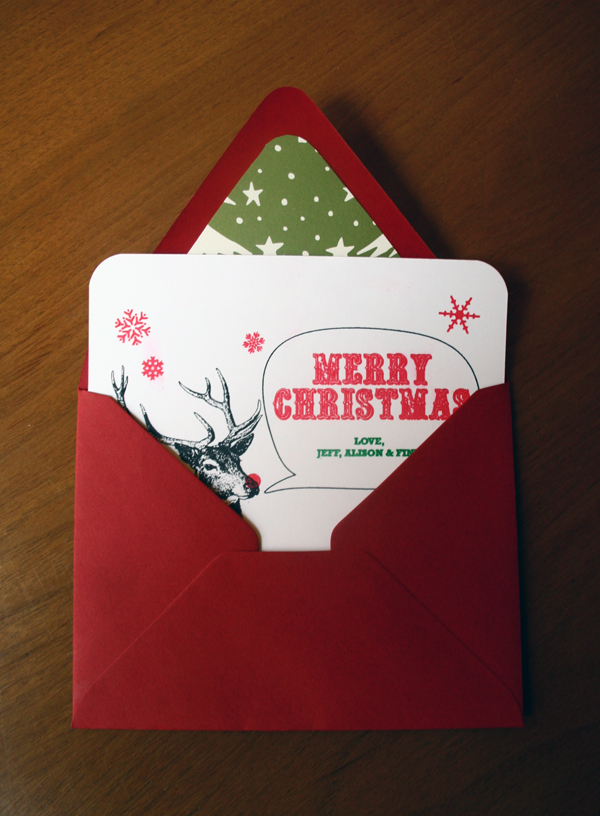 Gocco Christmas card and Envelope