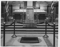 Magna Carta, Reissue of 1225, in Case in National Archives Rotunda, 1965