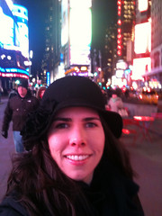 Happy in Times Square