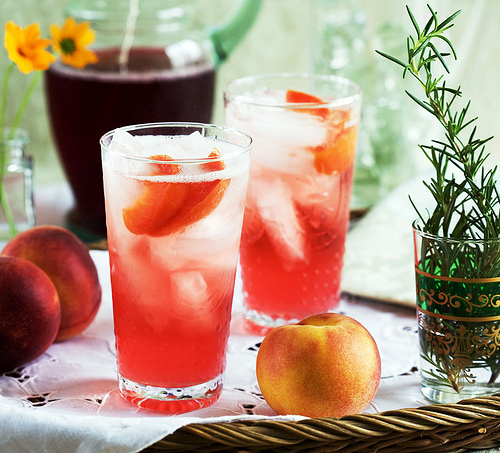 Rosemary Peach Wine Spritzer