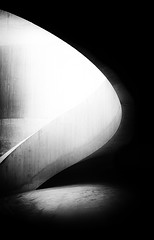 Moonlight Drawn By Clouds - by Simon & His Camera (Simon & His Camera) Tags: blackandwhite bw black white curve stairs contrast concrete architecture indoor dark light shade shadow tate abstract art london monochrome minimalist minimalism pattern simonandhiscamera urban vignette