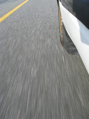 Nous irons  Ottawa, en Mazda [en Mazda!] (Robert Saucier) Tags: auto canada blur car montral pavement ottawa qubec flou img0322